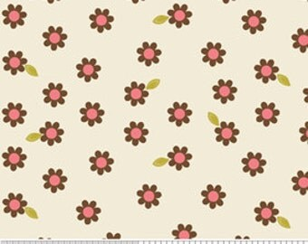 04283- Zoe Pearn  for Riley Blake Indian Summer Daisies in cream C2616 - 1 yard
