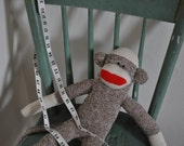 Original and Classic Rockford Red Heel Sock Monkey Size Large