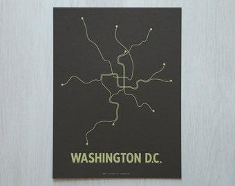 DC Sm Screen Print - Brown/Lime