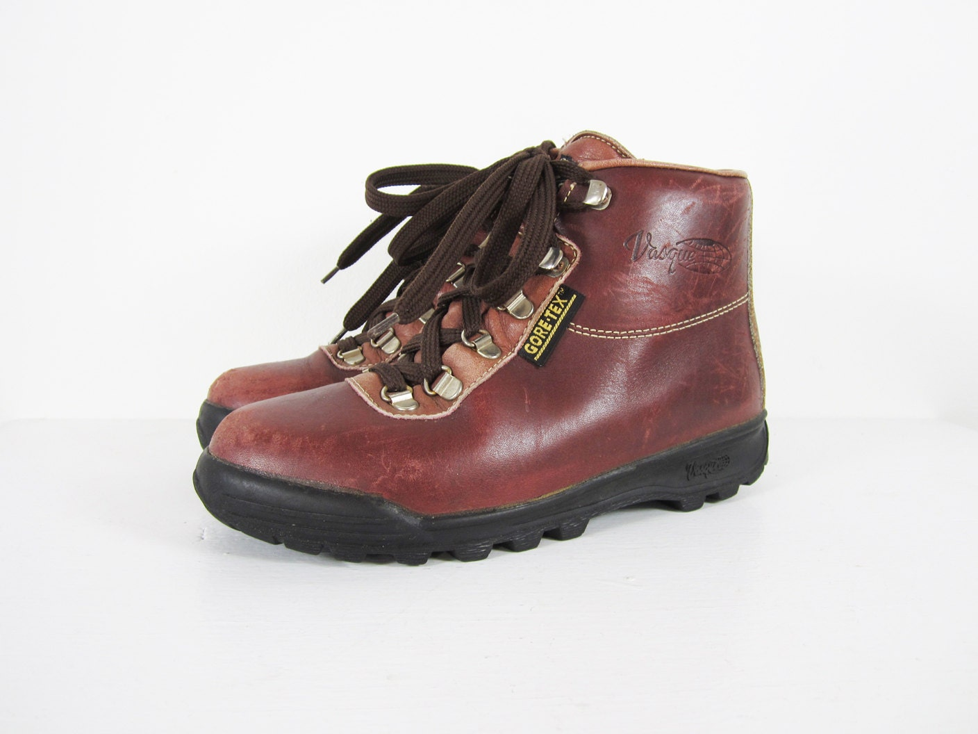 vintage vasque hiking boots mountaineering by memoryvintage