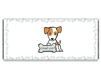Puppy Thank You School Business Candy Bar Wrappers - Tradeshow Candy Bar Wrappers - School Thank You Wrappers