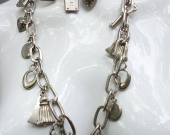 Silvertone CHARM Necklace/Belt One-of-a-kind