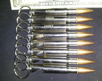 3006 bullet bottle opener engraved keychain groomsmen gift or. Black Bedroom Furniture Sets. Home Design Ideas
