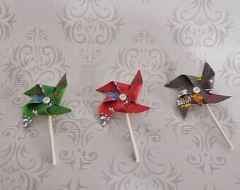 Superhero- Mini pinwheel boutonnieres