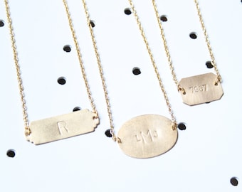 Personalized Bar Necklace, Initial Necklace, Monogram Necklace, Personalized Necklace, Custom Necklace, Monogram Necklace, Letter Necklace