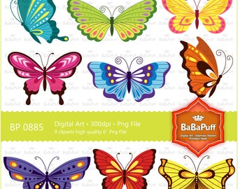 Butterfly Clip Art For Wedding Invitation Card, Handmade Craft Project. Personal and Small Commercial Use. BP 0885