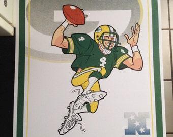 Green Bay Packers QB Favre poster print