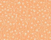 Grey Abbey - Gentle Vines Coral by Elizabeth Olwen - Organic Cotton Print Fabric from Cloud9