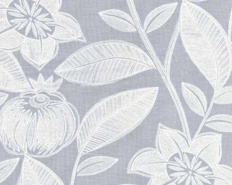 SALE - Lola - Sterling Jacobean Cotton Print Fabric from Dear Stella
