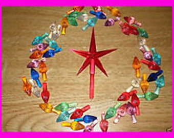 25  and STAR  Ceramic Christmas Tree Lights Light