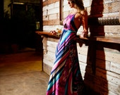 RESERVED for Tiffany Stuart - Summerset Swirl Spaghetti Strap Maxi Gown