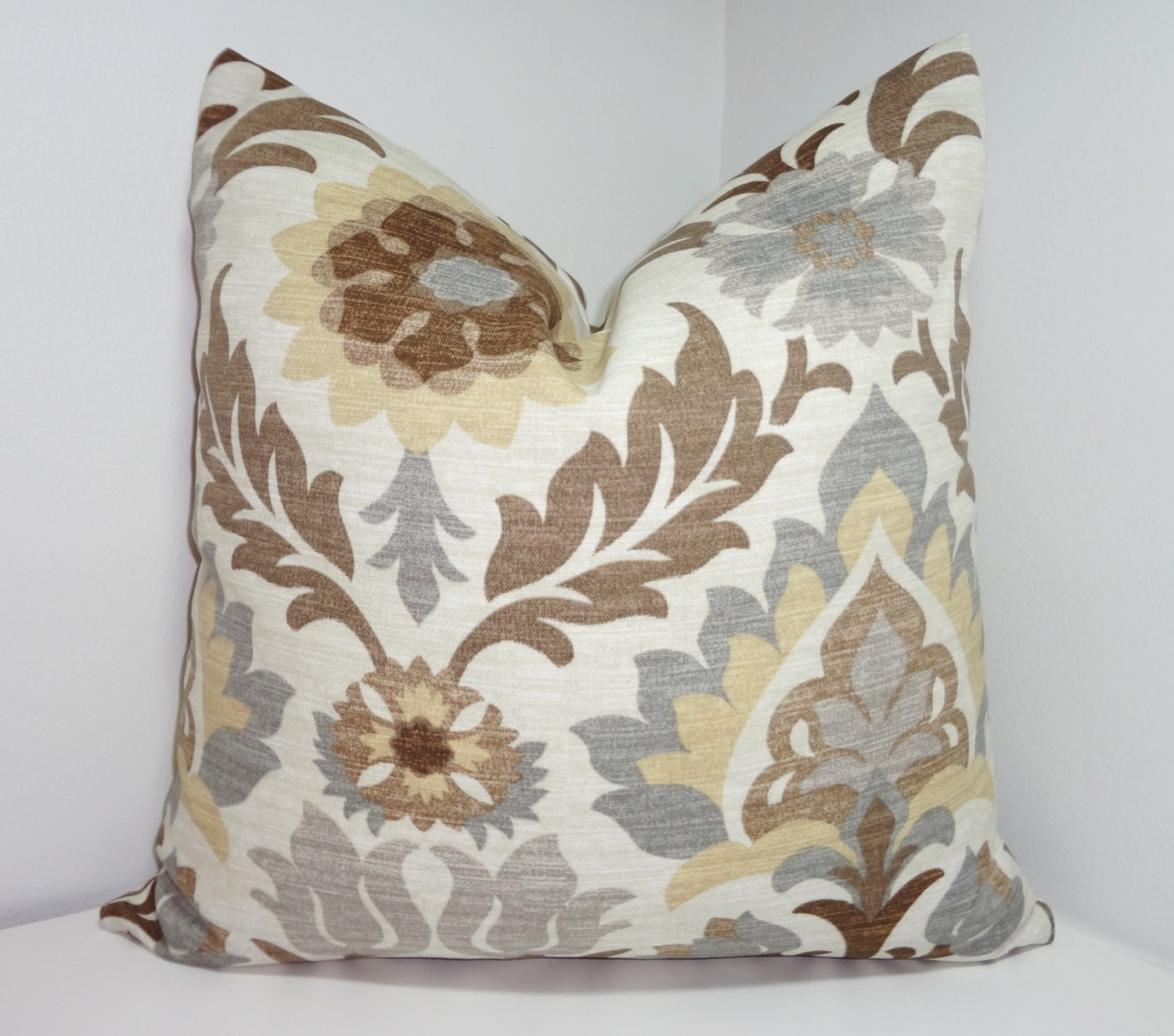 outdoor pillow covers outdoor pillow cover waverly santa floral brown grey 29078