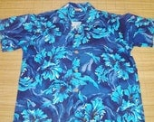 Mens Vintage 50s Pali Style Mod Floral Hawaiian Aloha Shirt - M - The Hana Shirt Co
