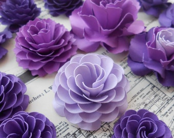 Cake Topper Flowers, Paper Decorations. CHOOSE YOUR COLORS. Weddings, Showers, Paper Flowers, Decoration