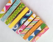 Clothespins. Set of 10. Kitchen. School Homework Clip. Home. Office. Pin. Peg. Gift Wrap. Home Decor