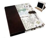 Leather iPad  Air mini 5 2 3 or 4 Hard Case, Leather mini iPad Cover, iPad Sleeve, i Pad stand up iPad mini hard case Camera Hole option