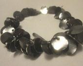 Bracelet, Black Dangle Bracelet, Black Jewelry, Jewelry Supplies, Black Jewelry Supplies, Little Black Dress by Cindydidit