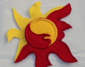 Sunset Shimmer Cutie Mark Applique ( Sew on ) - Sunset Shimmer applique - sun cutie mark - DIy Sunset Shimmer - mlp cosplay diy