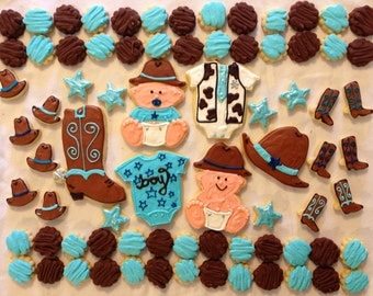 Western Cowboy Baby Shower Cookie Tray
