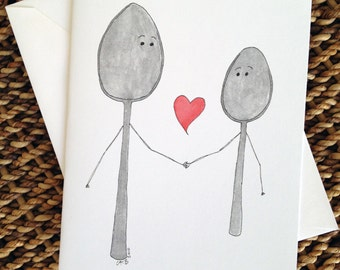 Big Spoon Little Spoon Love Card