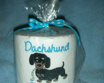 """Dachshund """"Poo Poo Paper"""" Toilet Paper - For the dog lover who has everything... Great Gift"""