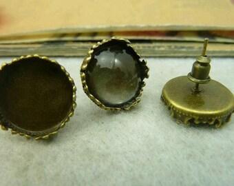 10pcs 15mm The Earrings  Antique Bronze Charm For Earring Pendant C4127