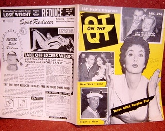 Book On The QT Hollywood Gossip Magazine 1956 Periodical