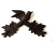 Cuckoo Clock salvage, carved wooden bird, clock part