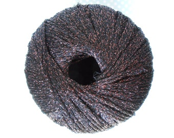Lurex Yarn Iridescent Ball Black/Bronze