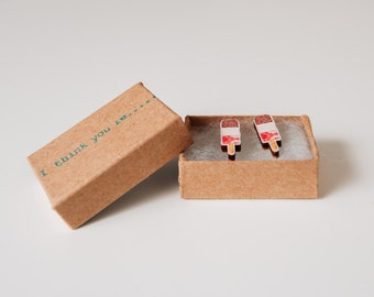 Fab Ice lolly, I Think You're.......Fab! Ice Lolly Earrings wooden laser cut