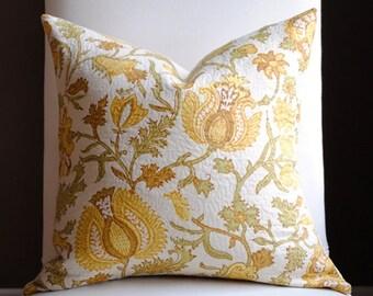 NEW-Beautiful Decorative Pillow Cover-18x18 -Langstrom-ROBERT ALLEN-Sprout