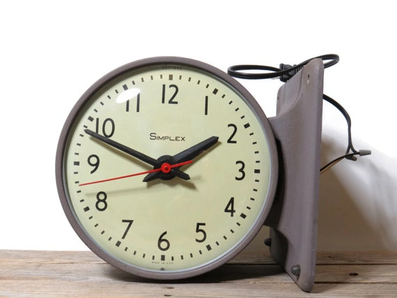 simplex sided school clock