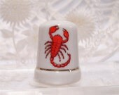 Scorpion Thimble Porcelain Vintage