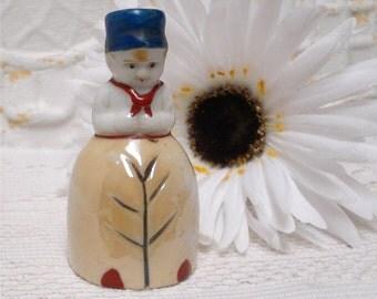Occupied Japan Lusterware Boy Bell