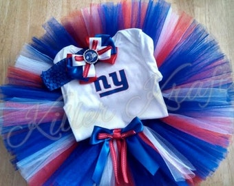 New York Giants inspired tutu outfit