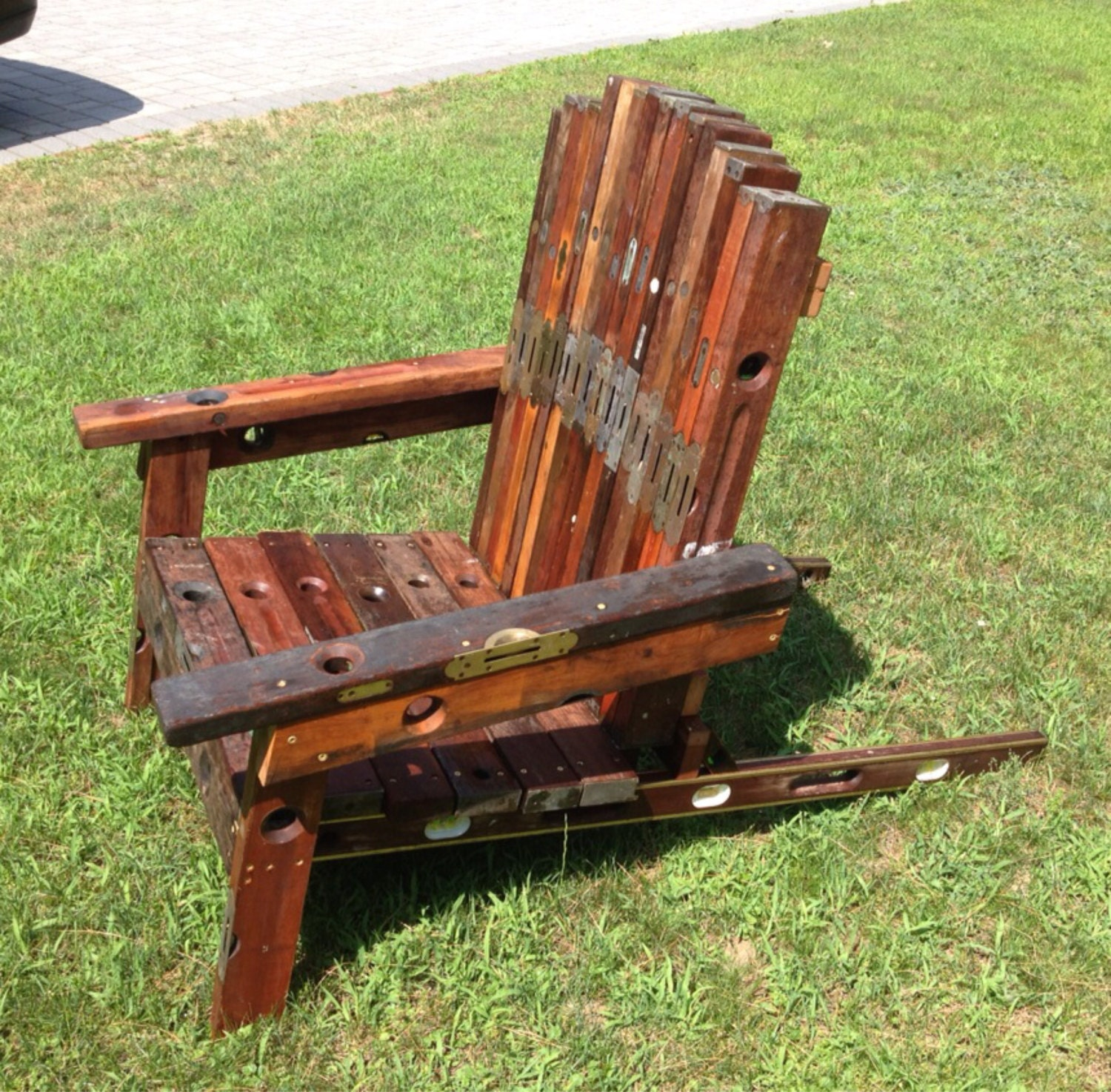 handmade adirondack chairs adirondack chair handmade from antique and vintage hardwood 7694