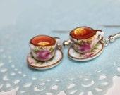 tea party earrings food earrings
