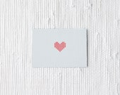 White and red postcard Heart - love gift for valentines day