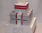 Winter theme Wedding Card Box-Snowflakes-any colors