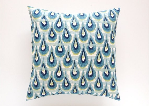 Navy And Teal Throw Pillows: Peacock Decorative Pillow Cover. Teal Navy Aqua By