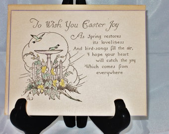 Art Deco Easter Card 1920's Unused
