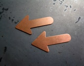 COPPER Arrow Blanks for Stamping, 24 Gauge Copper,  You get 2, Ready to Ship!