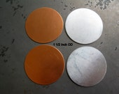 1 1/2 Inch Round Stamping Blanks, Metal Discs, Copper or Aluminum, Lot of 20, Ready to Ship!