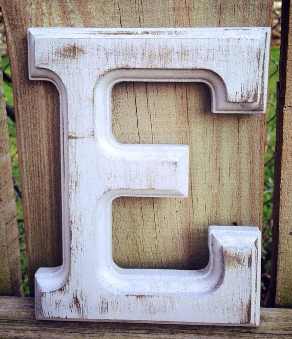 Distressed wall letter by rizohcollection on etsy for Party wall act letter to neighbour