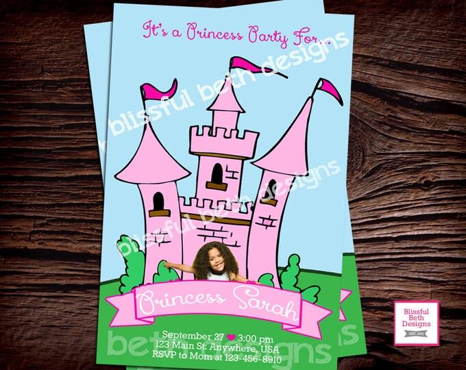 PRINCESS PARTY INVITATION Princess Birthday Invitation, Printable Princess Birthday Invitation, Princess Photo Invitation, Photo Invite