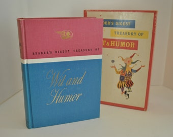 1958 Vintage Wit and Humor Book with Beautiful Case Reader's Digest