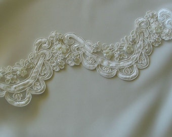 Beaded Ivory Wedding Trim