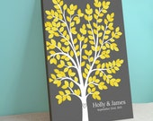 Guest Book Alternative - Dream Tree - Dreamwik - Peachwik Interactive Wedding Canvas - 175 guest sign in - Gallery Wrapped Canvas Wish Tree