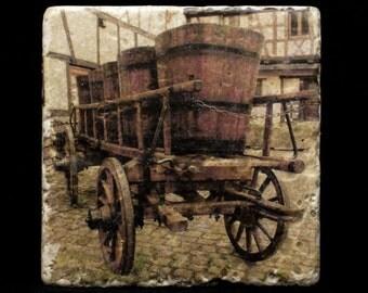 Coaster/Trivet - Wine Cart