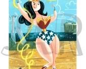 Wonder Woman Giclee Print: Numbered series of 50